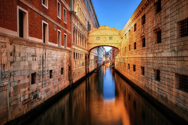 Wall Art - Photograph - The Bridge Of Sighs In The Evening by Svetlana Sewell
