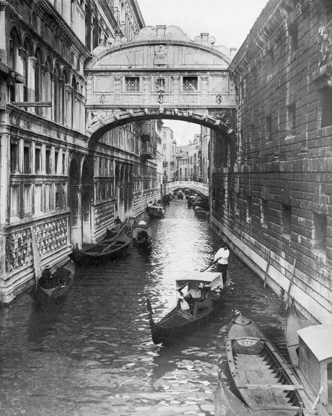 Connection Photograph - The Bridge Of Sighs In Venice In The by Keystone-france