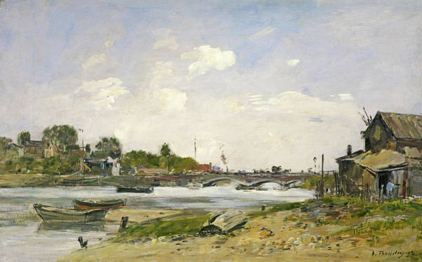 Wall Art - Painting - The Bridge Over The Touques At Deauville, 1895 by Eugene Louis Boudin