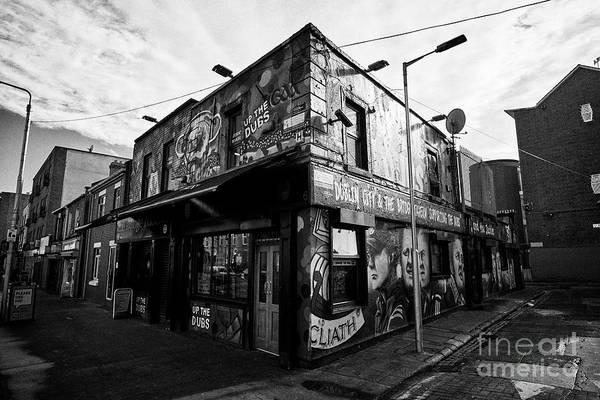Wall Art - Photograph - The Bridge Tavern Painted In Dublin Gaa Blue Colours Ballybough Dublin Republic Of Ireland Europe by Joe Fox