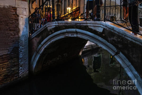 Photograph - The Bridges Of Venice At Night by Marina Usmanskaya