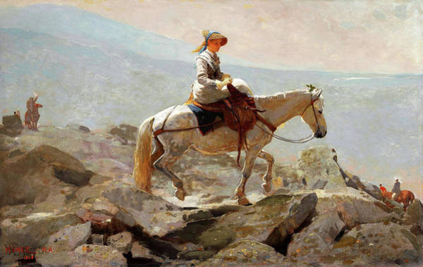 Wall Art - Painting - The Bridle Path, White Mountains - Digital Remastered Edition by Winslow Homer