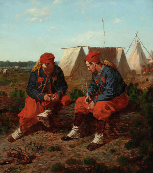 Sharpshooter Wall Art - Painting - The Brierwood Pipe, 1864 by Winslow Homer