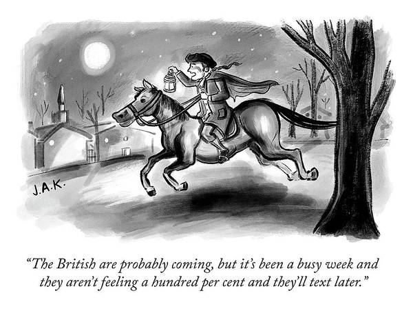 Adam Drawing - The British Are Probably Coming by Jason Adam Katzenstein