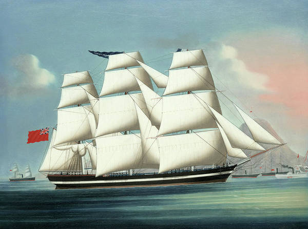 Wall Art - Painting - The Brocklebank Clipper Maiden Queen Of Hong Kong by Unknown 19th century