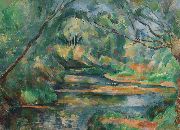 Wall Art - Painting - The Brook, 1900 by Paul Cezanne