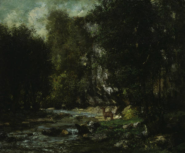 Wall Art - Painting - The Brook Of Les Puits-noir by Gustave Courbet
