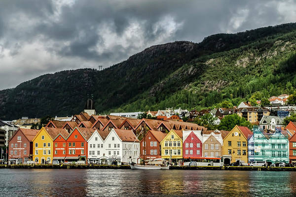 Photograph - The Bryggen, A Norwegian World Heritage Site. by Sven Brogren