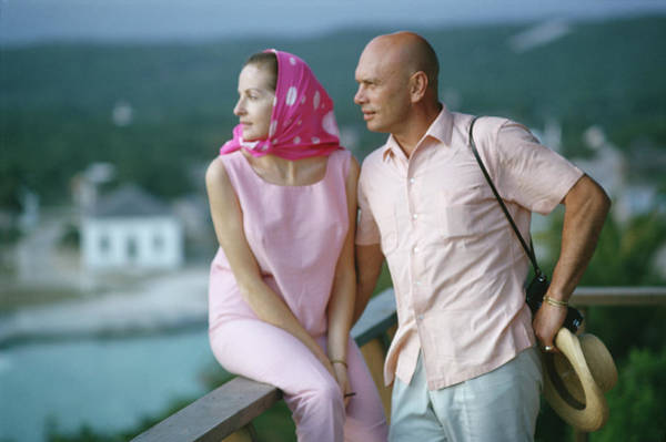 Wall Art - Photograph - The Brynners by Slim Aarons