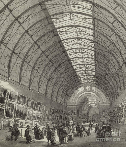 Beam Drawing - The Building For The Manchester Exhibition Of Art Treasures, The Central Hall by English School