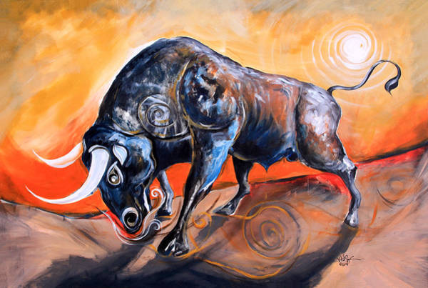 Painting - The Bull, Gerit Estque In Curant by J Vincent Scarpace
