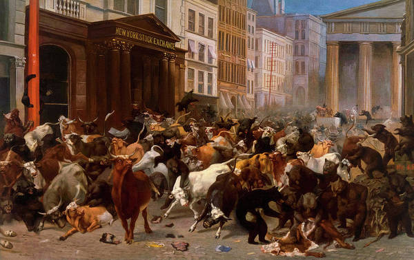 Wall Art - Painting - The Bulls And Bears In The Market, 1879 by William Holbrook Beard