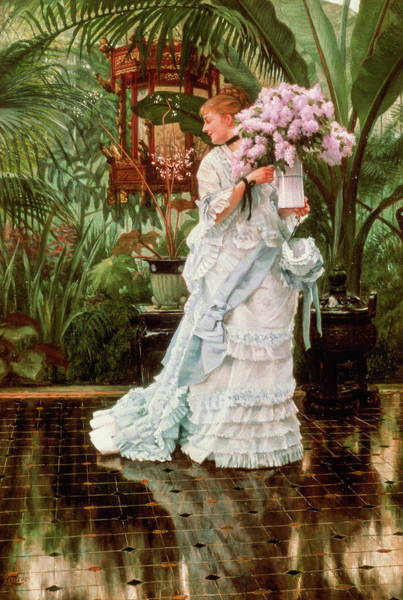 Wall Art - Painting - The Bunch Of Lilacs, 1875 by James Tissot