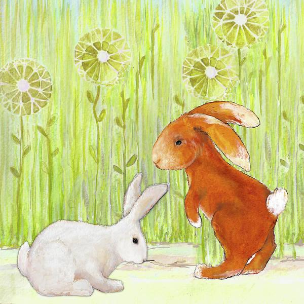 Wall Art - Mixed Media - The Bunnies I by Diannart