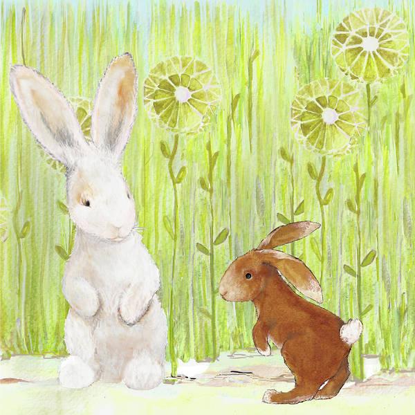 Wall Art - Mixed Media - The Bunnies II by Diannart