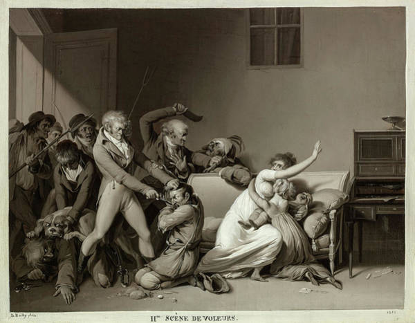 Wall Art - Painting - The Burglars Arrested, 1810 by Louis Leopold Boilly
