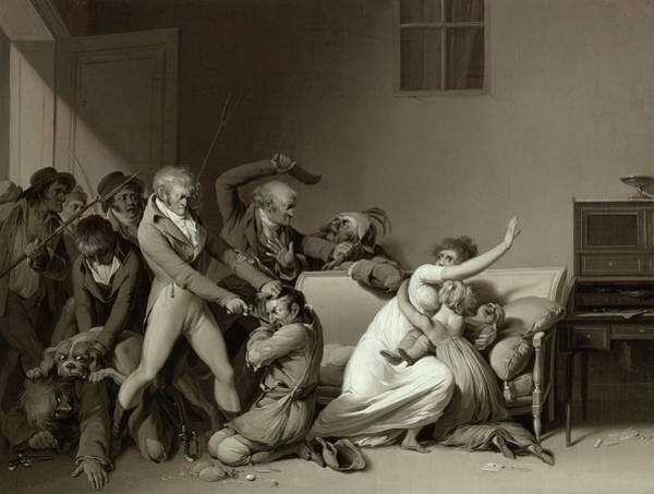 Wall Art - Painting - The Burglars Arrested by Louis Leopold Boilly