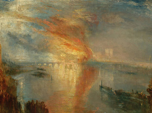Wall Art - Painting - The Burning Of The Houses Of Lords And Commons, 1834 by Joseph Mallord William Turner