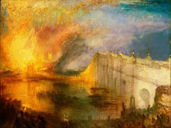 Wall Art - Painting - The Burning Of The Houses Of Lords And Commons - Digital Remastered Edition by William Turner