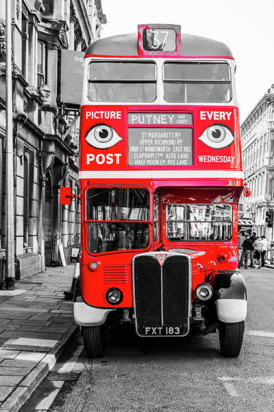 Photograph - The Bus To Putney Colour Pop by Steve Purnell