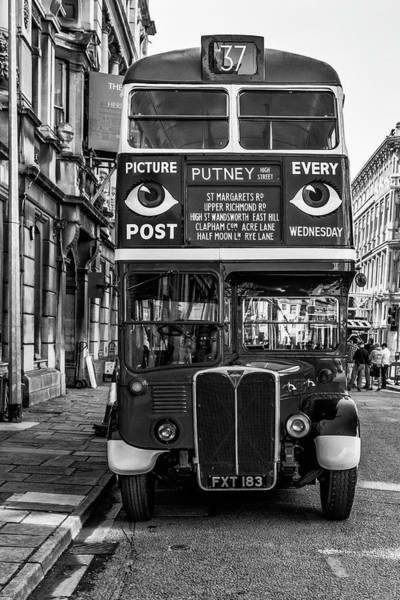 Photograph - The Bus To Putney Monochrome by Steve Purnell