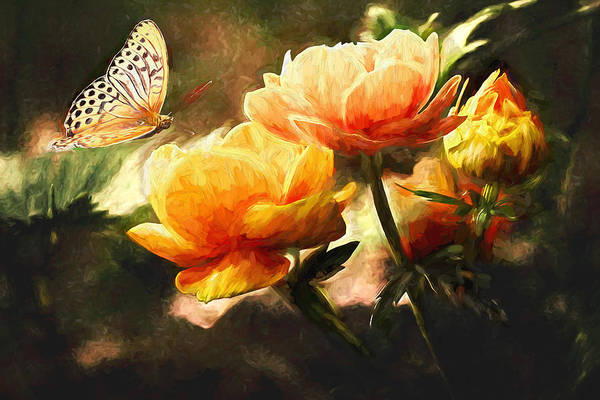 Sulfur Butterfly Wall Art - Painting - The Butterfly by Sean Duffy
