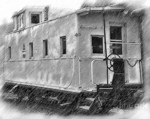 Digital Art - The Caboose by Kirt Tisdale