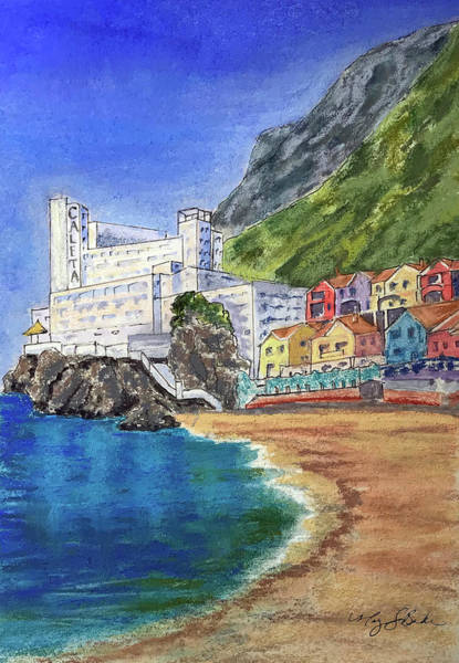 Wall Art - Painting - The Caleta by Mary Benke