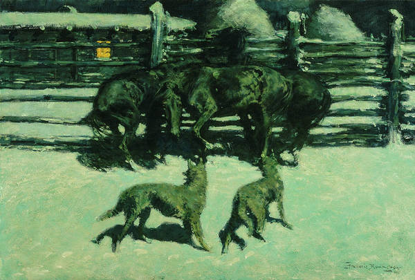 Wall Art - Painting - The Call For Help, 1908 by Frederic Remington