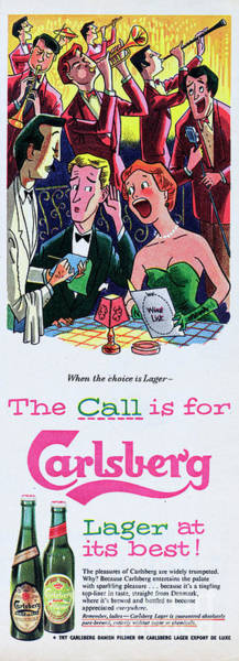Lager Photograph - The Call Is For Carlsberg by Picture Post