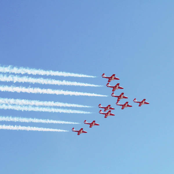 Wall Art - Photograph - The Canadian Snowbirds by Art Block Collections