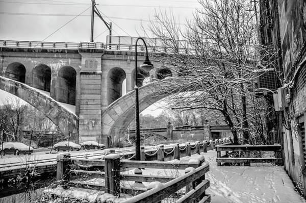 Wall Art - Photograph - The Canal In Winter - Manayunk by Bill Cannon