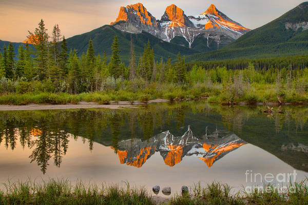 Photograph - The Canmore Glowing Sisters by Adam Jewell