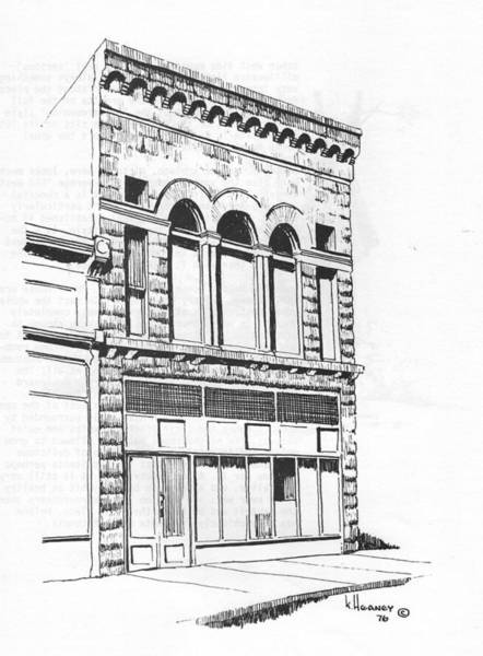 Drawing - The Capital Transfer And Sands Brothers Building Helena Montana by Kevin Heaney