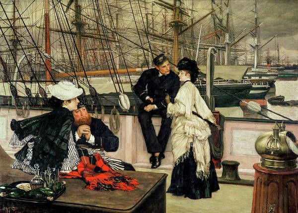 Wall Art - Painting - The Captain And The Mate, 1873 by James Tissot