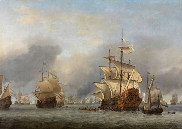 Wall Art - Painting - The Capture Of The Royal Prince, 1670 by Willem van de Velde