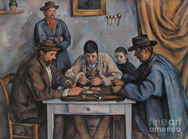 Gaming Painting - The Card Players By Cezanne by Paul Cezanne