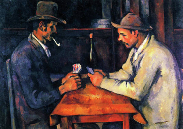 Wall Art - Painting - The Card Players, Zwei Kartenspieler - Digital Remastered Edition by Paul Cezanne