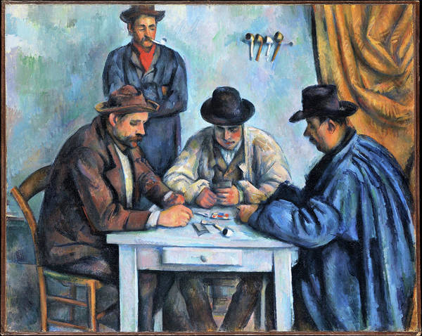 Wall Art - Painting - The Card Players, Kartenspieler - Digital Remastered Edition by Paul Cezanne