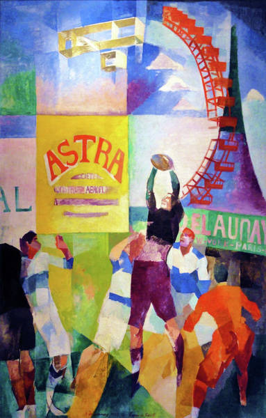 Wall Art - Painting - The Cardiff Team - Digital Remastered Edition by Robert Delaunay