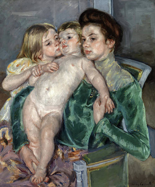 Wall Art - Painting - The Caress, 1902 by Mary Cassatt