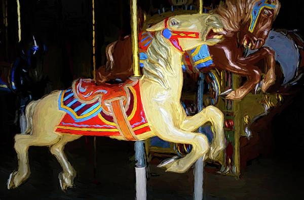 Carousel Digital Art - The Carousel 1 by Ernie Echols
