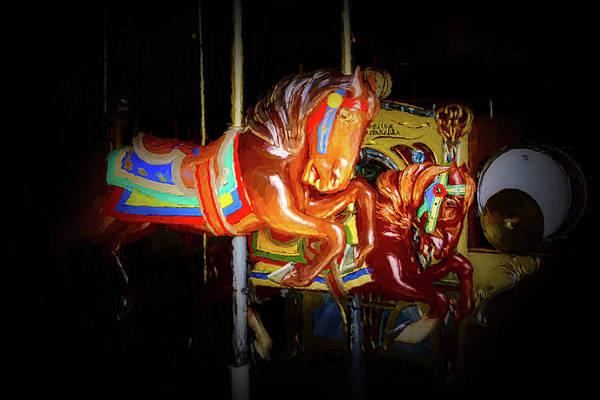 Carousel Digital Art - The Carousel 2 by Ernie Echols