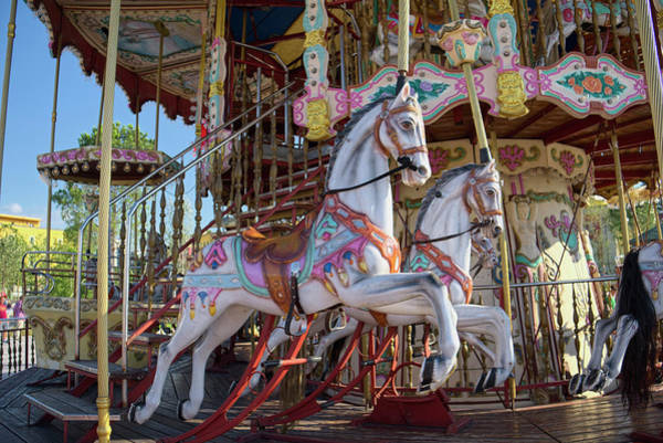Photograph - The Carousel Horses In Skanderbeg Square by Lucinda Walter