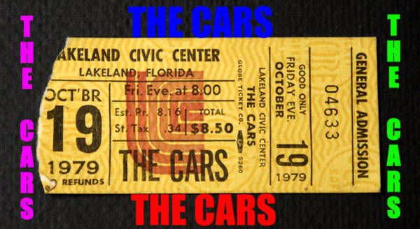 Classic Rock Mixed Media - The Cars Rock Band T Design A by David Lee Thompson