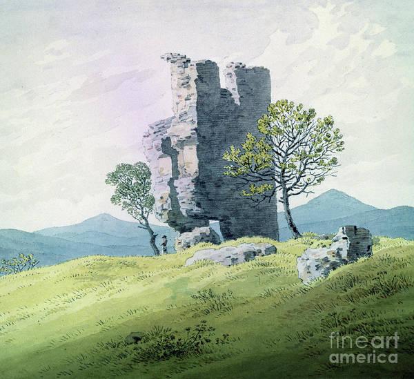 Wall Art - Painting - The Castle In Teplitz by Caspar David Friedrich