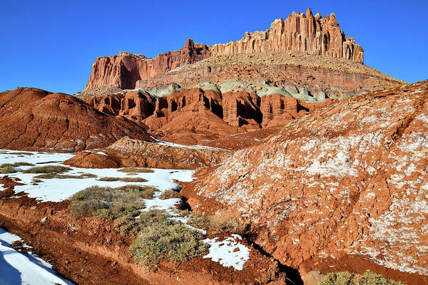 Photograph - The Castle Of Capitol Reef National Park by Ray Mathis