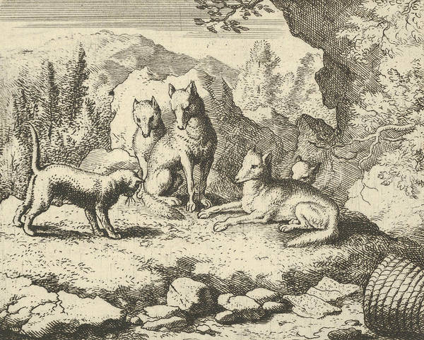 Wall Art - Relief - The Cat Calls Renard To Appear Before The Tribunal From Hendrick Van Alcmar's Renard The Fox by Allaert van Everdingen