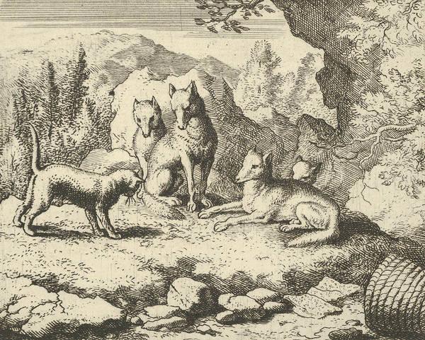 Relief - The Cat Calls Renard To Appear Before The Tribunal From Hendrick Van Alcmar's Renard The Fox by Allaert van Everdingen