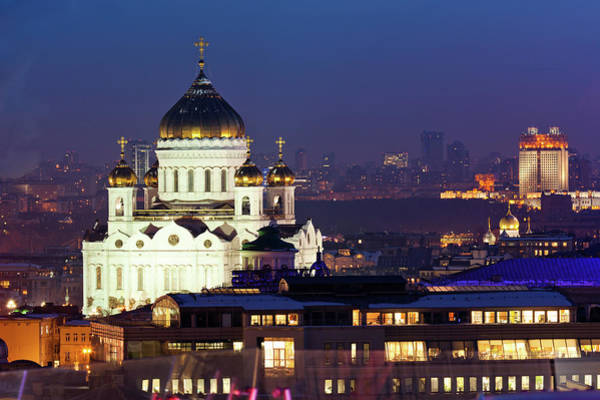 Cathedral Of Christ The Savior Photograph - The Cathedral Of Christ Saviour In by Mordolff